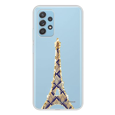 Coque Samsung Galaxy A52 souple transparente Tour Eiffel Art Déco Motif Ecriture Tendance La Coque Francaise.