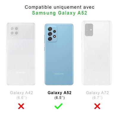 Coque Samsung Galaxy A52 souple transparente Marbre noir Motif Ecriture Tendance La Coque Francaise.