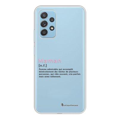 Coque Samsung Galaxy A52 souple transparente Maman Definition Motif Ecriture Tendance La Coque Francaise.
