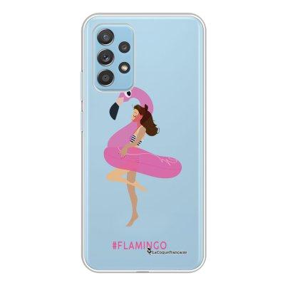 Coque Samsung Galaxy A52 souple transparente Flamingo Motif Ecriture Tendance La Coque Francaise.