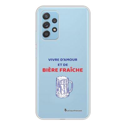 Coque Samsung Galaxy A52 souple transparente Vivre amour et Biere Motif Ecriture Tendance La Coque Francaise.