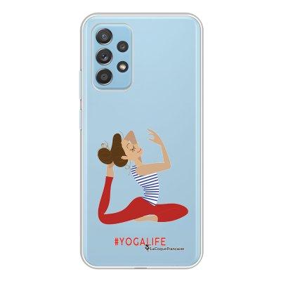 Coque Samsung Galaxy A52 souple transparente Yoga Life Motif Ecriture Tendance La Coque Francaise.