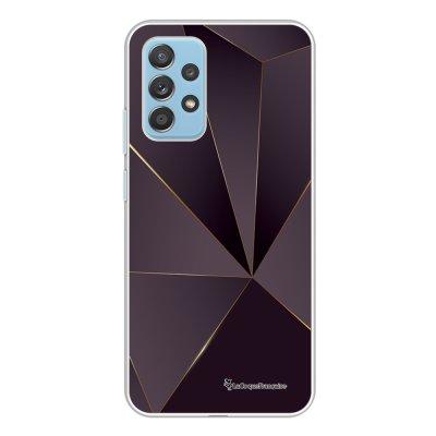 Coque Samsung Galaxy A52 souple transparente Violet géométrique Motif Ecriture Tendance La Coque Francaise.