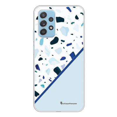 Coque Samsung Galaxy A52 souple transparente Duo Terrazzo Bleu Motif Ecriture Tendance La Coque Francaise.