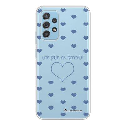 Coque Samsung Galaxy A52 souple transparente Pluie de Bonheur Lilas Motif Ecriture Tendance La Coque Francaise.