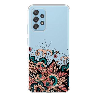 Coque Samsung Galaxy A52 souple transparente Cachemire bleu corail Motif Ecriture Tendance La Coque Francaise.