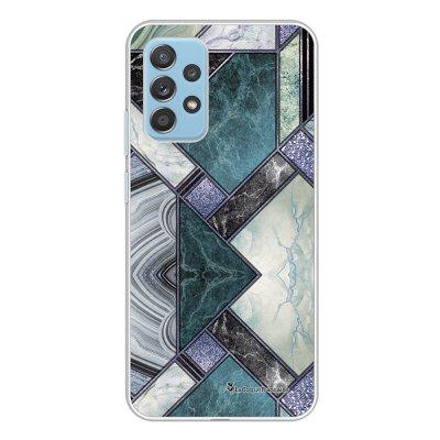 Coque Samsung Galaxy A52 souple transparente Marbre Bleu Vert Motif Ecriture Tendance La Coque Francaise.