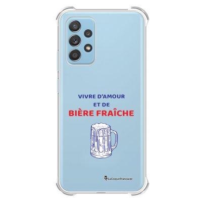 Coque Samsung Galaxy A52 anti-choc souple angles renforcés transparente Vivre amour et Biere La Coque Francaise.