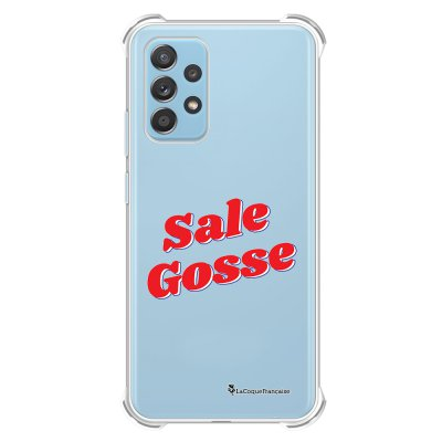Coque Samsung Galaxy A52 anti-choc souple angles renforcés transparente Sale Gosse Rouge La Coque Francaise.