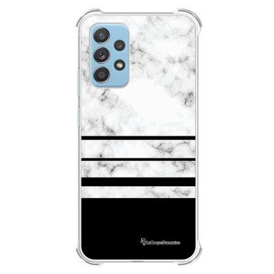 Coque Samsung Galaxy A52 anti-choc souple angles renforcés transparente Trio marbre Blanc La Coque Francaise.
