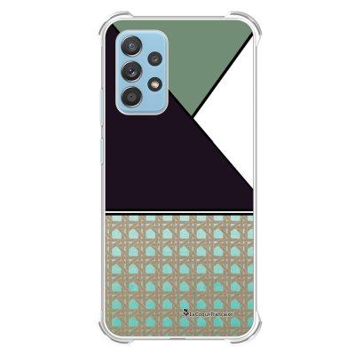 Coque Samsung Galaxy A52 anti-choc souple angles renforcés transparente Canage vert La Coque Francaise.