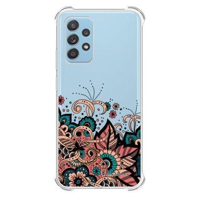 Coque Samsung Galaxy A52 anti-choc souple angles renforcés transparente Cachemire bleu corail La Coque Francaise.