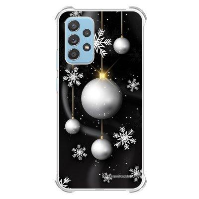 Coque Samsung Galaxy A52 anti-choc souple angles renforcés transparente Boules Etoiles Noel neiges La Coque Francaise.