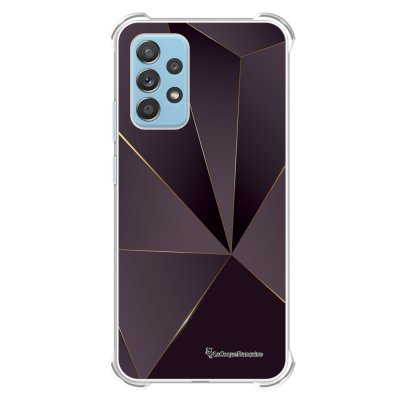 Coque Samsung Galaxy A52 anti-choc souple angles renforcés transparente Violet géométrique La Coque Francaise.