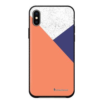 Coque iPhone X/Xs effet cuir grainé noir TrioCo Design La Coque Francaise