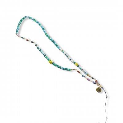 Bijoux de téléphone à accrocher à votre coque I am Smiling perles vertes - longueur 61 cm