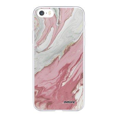 Coque iPhone 5/5S/SE 360 intégrale transparente Mercure Rose Tendance Evetane.