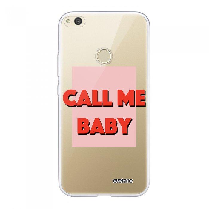 Coque Huawei P8 lite 2017 souple transparente Call me baby Motif Ecriture Tendance Evetane.