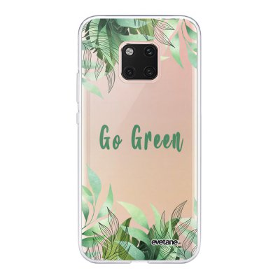 Coque Huawei Mate20 Pro 360 intégrale transparente Go green Tendance Evetane.