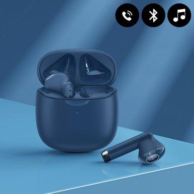 Ecouteurs sans fil Bluetooth avec toucher tactile - Bleu