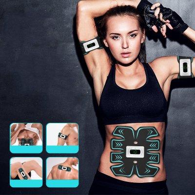 Electrostimulateur Musculaire , Ceinture Abdominale,Bras, Jambes avec affichage LED