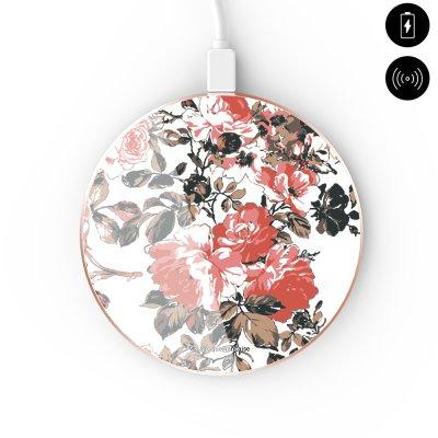 Chargeur Induction contour gold blanc Roses Colorées La Coque Francaise