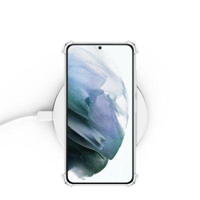 Coque Galaxy S21 Ultra 5G anti-choc transparente et vitre de protection en verre transparente