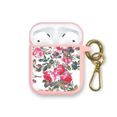 Housse pour Airpods silicone liquide rose Roses Colorées Motif Ecriture Tendance La Coque Francaise