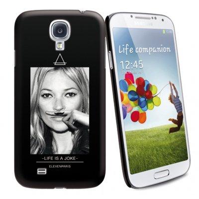 Coque Noire Toucher Gomme Licence Eleven Paris Motif Kate Compatible Samsung i9505 Galaxy S4