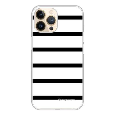 Coque iPhone 13 Pro 360 intégrale transparente Marinière Noire Tendance La Coque Francaise.