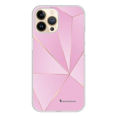 Coque iPhone 13 Pro 360 intégrale transparente Rose géométrique Tendance La Coque Francaise.
