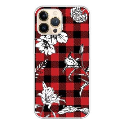 Coque iPhone 13 Pro 360 intégrale transparente Tartan rouge et noir Tendance La Coque Francaise.
