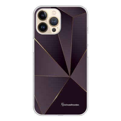 Coque iPhone 13 Pro 360 intégrale transparente Violet géométrique Tendance La Coque Francaise.