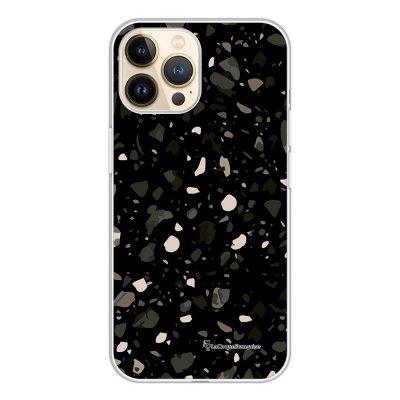 Coque iPhone 13 Pro 360 intégrale transparente Terrazzo Noir Tendance La Coque Francaise.