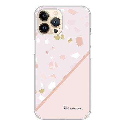Coque iPhone 13 Pro 360 intégrale transparente Duo Terrazzo Rose Tendance La Coque Francaise.