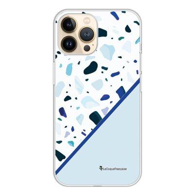 Coque iPhone 13 Pro 360 intégrale transparente Duo Terrazzo Bleu Tendance La Coque Francaise.