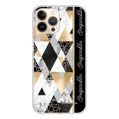 Coque iPhone 13 Pro 360 intégrale transparente Marbre Noir Inséparables Tendance La Coque Francaise.