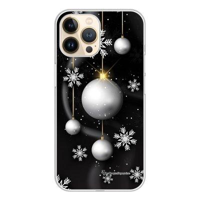 Coque iPhone 13 Pro 360 intégrale transparente Boules Etoiles Noel neiges Tendance La Coque Francaise.