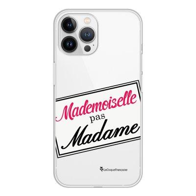 Coque iPhone 13 Pro Max 360 intégrale transparente Mlle pas Mme Tendance La Coque Francaise.