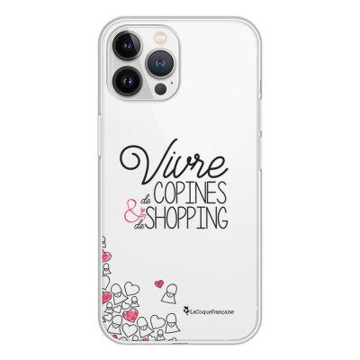 Coque iPhone 13 Pro Max 360 intégrale transparente Vivre de copines Tendance La Coque Francaise.