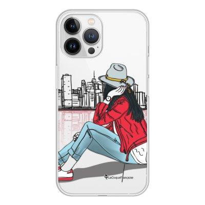 Coque iPhone 13 Pro Max 360 intégrale transparente Chapeau femme plumes Tendance La Coque Francaise.
