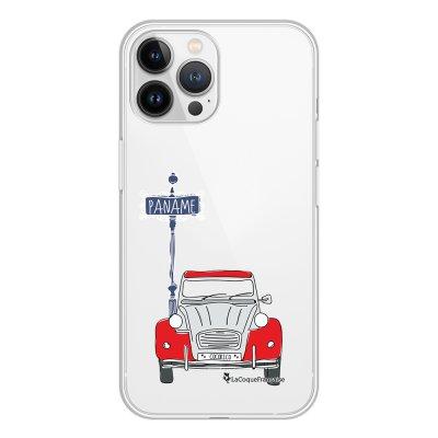 Coque iPhone 13 Pro Max 360 intégrale transparente 2CV cocorico blanc Tendance La Coque Francaise.