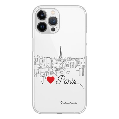 Coque iPhone 13 Pro Max 360 intégrale transparente J'aime Paris Tendance La Coque Francaise.
