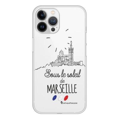 Coque iPhone 13 Pro Max 360 intégrale transparente Sous le soleil de Marseille Tendance La Coque Francaise.