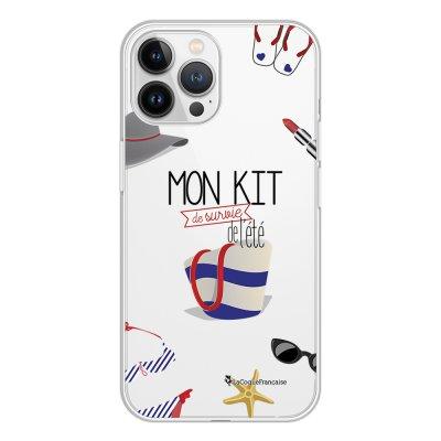 Coque iPhone 13 Pro Max 360 intégrale transparente Mon kit de survie de l'été Tendance La Coque Francaise.