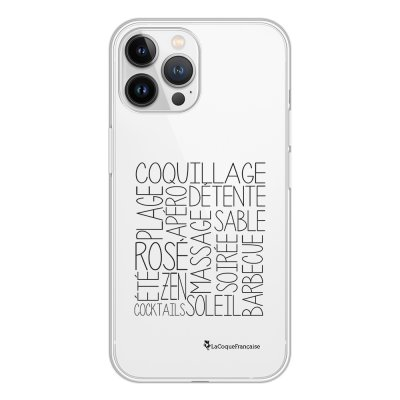 Coque iPhone 13 Pro Max 360 intégrale transparente Les mots de l'été Tendance La Coque Francaise.