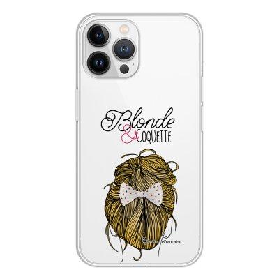 Coque iPhone 13 Pro Max 360 intégrale transparente Blonde et coquette Tendance La Coque Francaise.