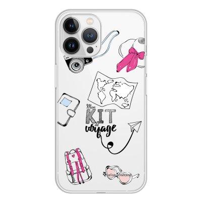 Coque iPhone 13 Pro Max 360 intégrale transparente Mon kit de voyage Tendance La Coque Francaise.