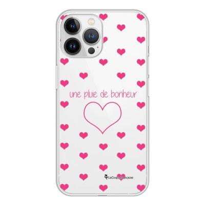 Coque iPhone 13 Pro Max 360 intégrale transparente Pluie de Bonheur Rose Tendance La Coque Francaise.
