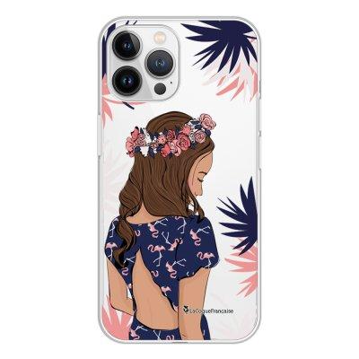 Coque iPhone 13 Pro Max 360 intégrale transparente Couronne de fleurs Tendance La Coque Francaise.